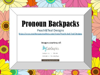 Pronoun Backpack Activity