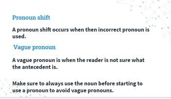 Pronoun Basics Presentation and Fill in the Blank Notes