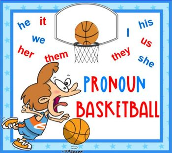 Pronoun Basketball SMARTBOARD Lesson and Game