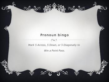 Pronoun Bingo