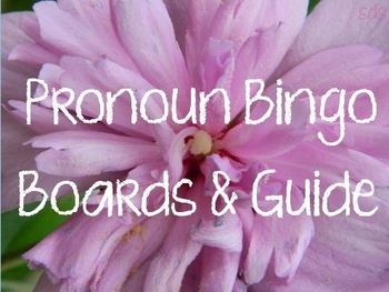 Pronoun Bingo Boards and Guide