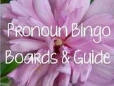 Pronoun Bingo Boards and Guide