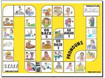 Pronoun Board Game