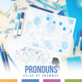 Pronoun Bubble Coloring Sheet
