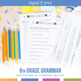 Sixth Grade Grammar Bundle: Pronouns, Parts of Speech, Parts of a Sentence