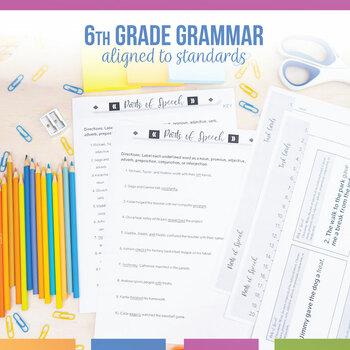 Sixth Grade Grammar Bundle: Pronouns, Parts of Speech, Par