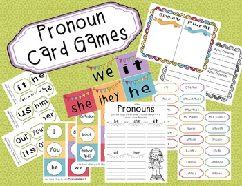 Pronoun Card Games