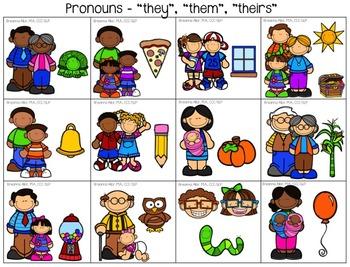 Pronoun Drill Cards