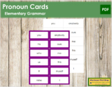 Pronoun Cards - Montessori Grammar
