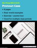 Pronoun Case: Lesson + Worksheet