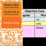 Pronoun Cases - Playlist and Teaching Notes
