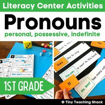 Pronoun Center Activities (personal, possessive, indefinite)