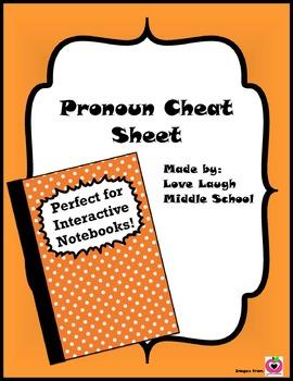 Pronoun Cheat Sheet