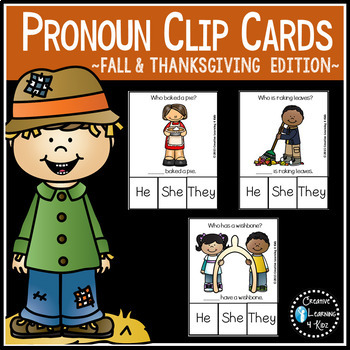 Pronoun Clip Card: BUNDLE