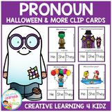 Pronoun Clip Cards: Halloween & More