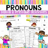 Pronoun Digital & Printable Activities   Distance Learning