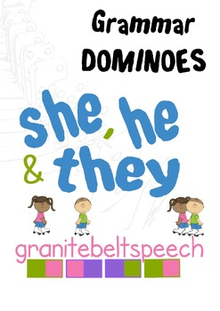 Pronoun Dominoes - He, She, and They