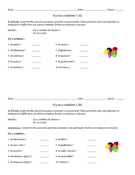Pronoun En Partner Oral Activity