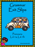 Pronoun Exit Slips for Middle School Students