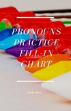 Pronoun Practice Fill In Chart - ESL