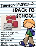 Pronoun Flashcards for Back to School