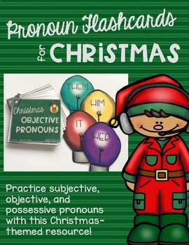 Pronoun Flashcards for Christmas