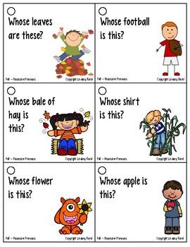 Pronoun Flashcards for Fall