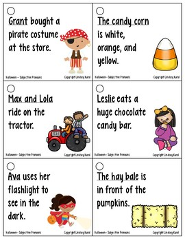 Pronoun Flashcards for Halloween