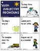 Pronoun Flashcards for Winter
