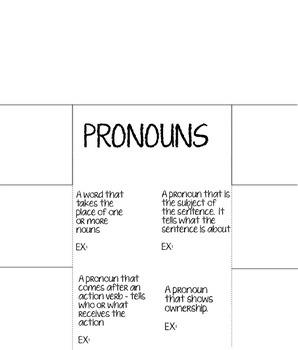 Pronoun Foldable!