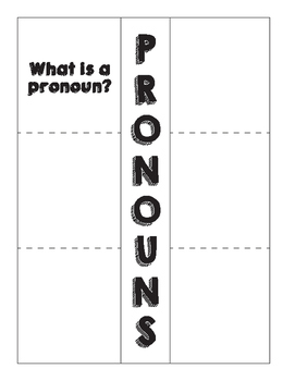 Pronoun Foldable