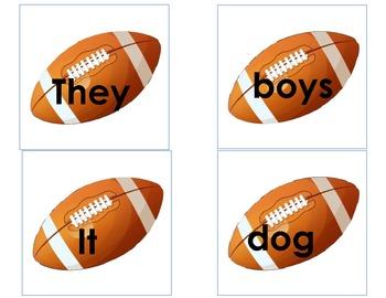 Pronoun Football Concentration Common Core Language Standards