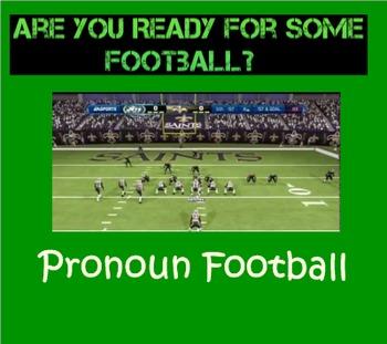 Pronoun Football SMARTboard Game