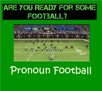 Pronoun Football SMARTboard Game