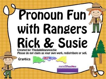 Pronoun Fun with Rangers Rick & Susie FREEBIE