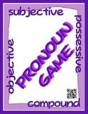 Pronoun GAME - Subjective, Objective, Possessive, Compound (QR Code Cards)