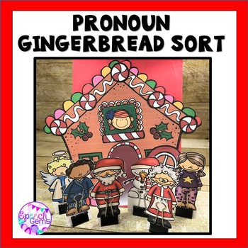 Pronoun Gingerbread Sort:  He, she, they, his, her, and their