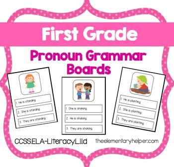 Pronoun Grammar Board: First Grade