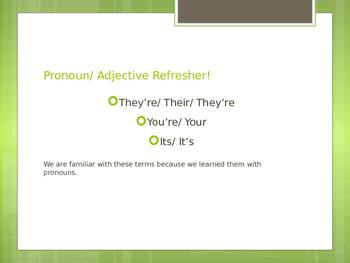 Pronoun Homophones