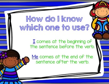 Pronoun I and Me Powerpoint and Activities Bundled