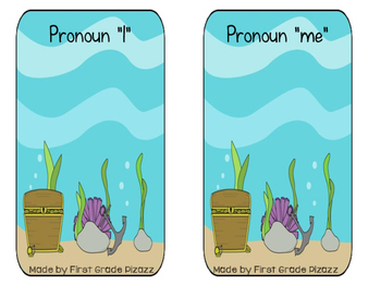 Pronoun I and Me Sorting Game