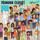 Pronoun Kids Grammar Clipart