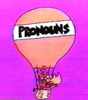 Pronoun Koosh Ball and/or Smartboard Activity