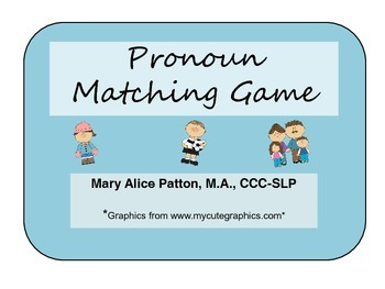 Pronoun Matching Activity