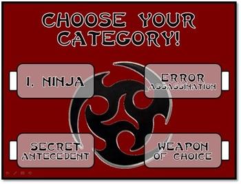 Pronoun Ninjas - Fun Test Prep Review Game