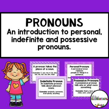 Indefinite, Possessive, and Personal Pronouns