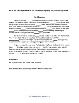 Pronoun Packet: Objective, Subjective, and Reflexive - No Printing Needed