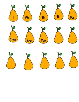Pronoun Pear match