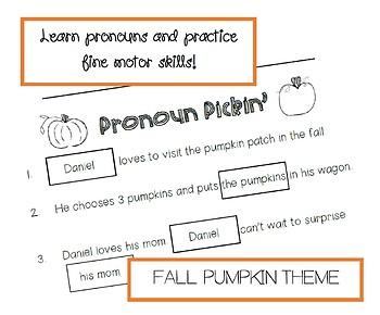 Pronoun Pickin' - Pronoun Matching Cut & Paste!