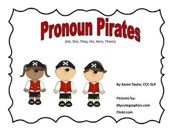 Pronoun Pirates, Speech and Language, He, She, They, His,